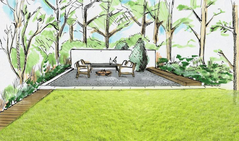 ogród nowoczesny, naturalny